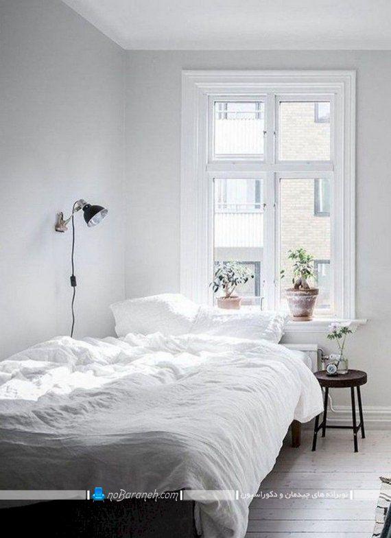 اتاق خواب تک نفره و مجردی با دکوراسیون سفید، دکوراسیون ارزان قیمت اتاق خواب