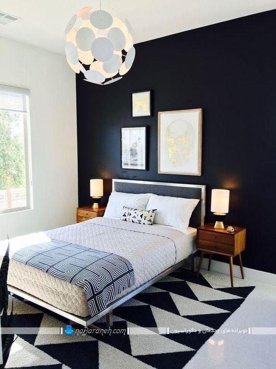 طراحی دکوراسیون شیک اتاق خواب با رنگ آبی، مدل سرویس خواب فلزی و شیک اتاق عروس