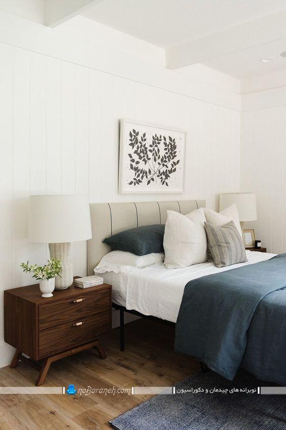 طراحی دکوراسیون شیک و زیبا در اتاق خواب عروس، سرویس خواب چرمی اتاق عروس