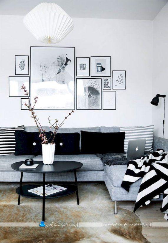 تزیین اتاق نشیمن و هال منزل با تابلوهای دیواری شیک مدرن دکوراتیو قاب دار شیشه ای در مدل های زیبا. نحوه تزیین و نصب تابلوهای تزیینی روی دیوار به شکل چند تکه. مدل های جدید قاب عکس دکوراتیو