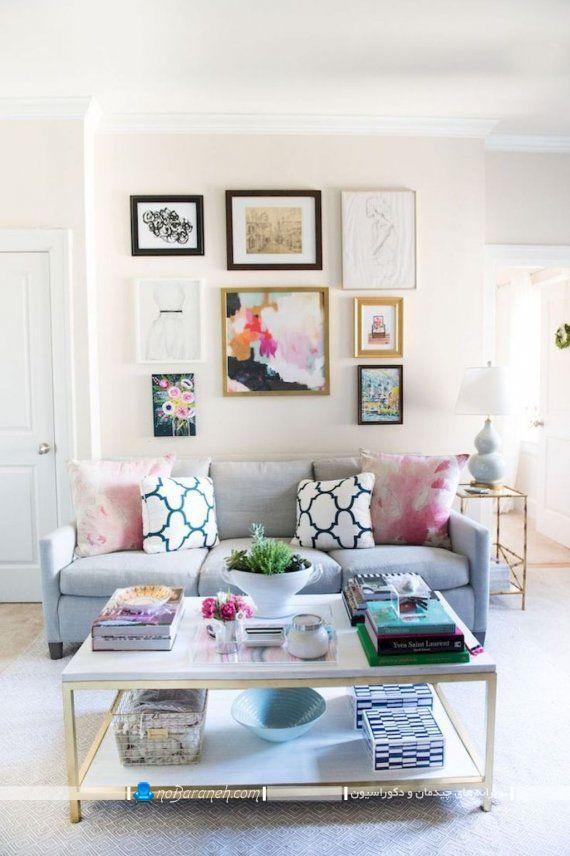 تزیین دیوار هال و نشیمن با تابلو دکوراتیو و تزیینی، تابلوهای ارزان قیمت و شیک زیبا برای تزیین فانتزی دیوارهای اتاق پذیرایی منزل به زیباترین و شیک ترین شکل ممکن. قاب عکس دکوراتیو چند تکه