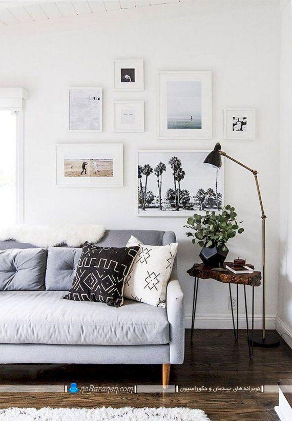 مدل تابلوهای دیواری چند تکه مدرن شیک دکوراتیو در طرح های زیبا قاب دار و شیشه ای. نحوه تزیین دیوار اتاق پذیرایی با تابلوهای فانتزی و شیک.