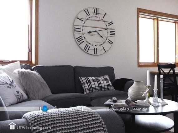 ساعت دیواری چوبی و شیک مدرن تزیینی ، مدل جدید ساعت دیواری