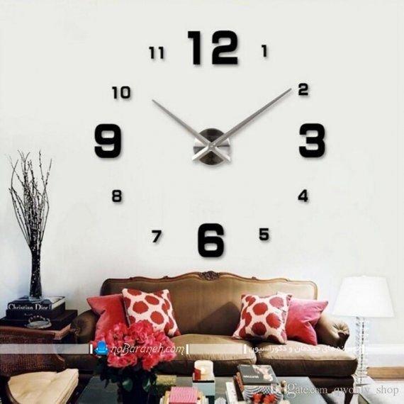 ساعت دیواری فانتزی و بزرگ بدون صفحه و عقربه ، ساعت دیواری مدرن و شیک تزیینی