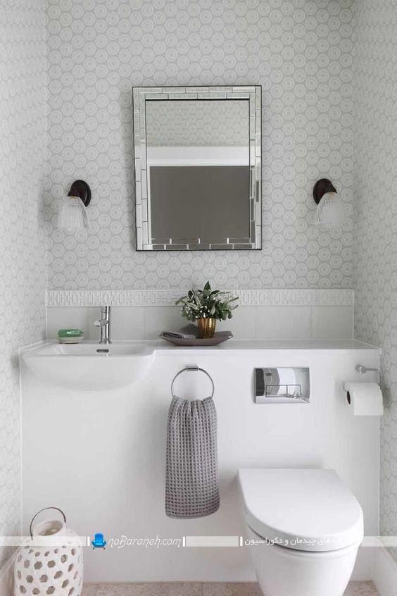 عکس مدل جدید مدرن کاسه روشویی و توالت فرنگی مدرن ساده ارزان قیمت.