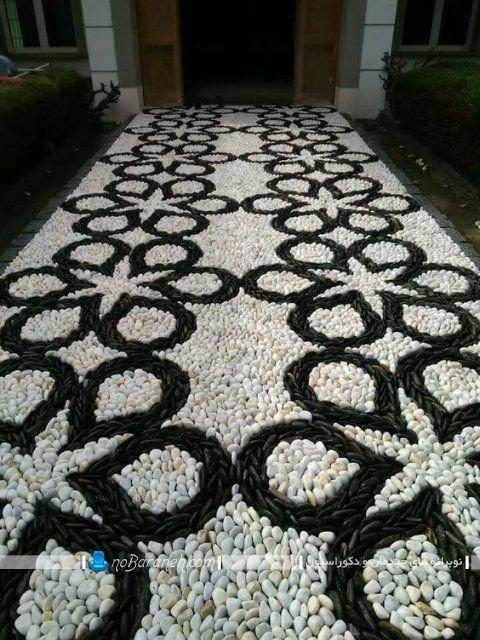 سنگ فرش باغ و ویلا