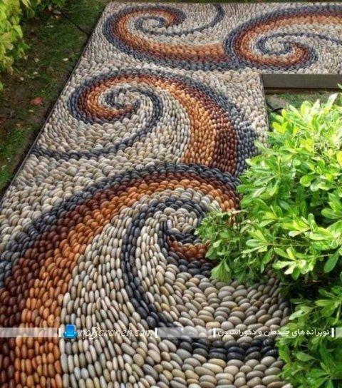 مدلهای لوکس و فانتزی سنگ فرش طرح های جدید و فانتزی سنگ فرش حیاط و باغ و ویلا