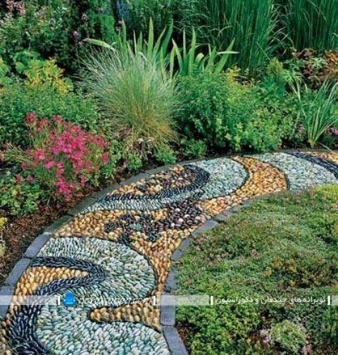 سنگ فرش باغی و ویلایی