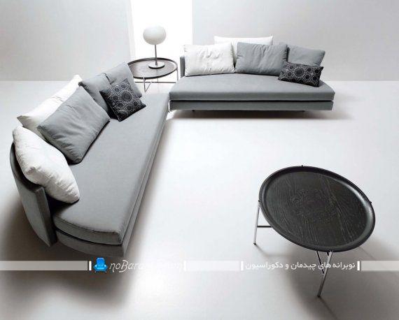 مبلمان تختخوابشو جدید و شیک فانتزی به شکل کاناپه دایره دو تکه.