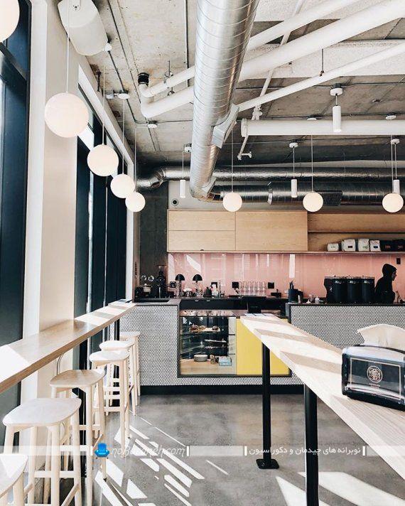دیزاین شیک و مینیمالیستی در کافی شاپ و کافه تریا ، طراحی دکوراسیون کافی شاپ
