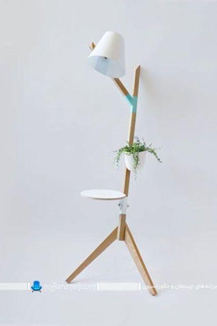آباژور فانتزی طاقچه دار و چوبی در مدل کمجا برای تزیین شیک و مدرن منزل با طرح های جدید.