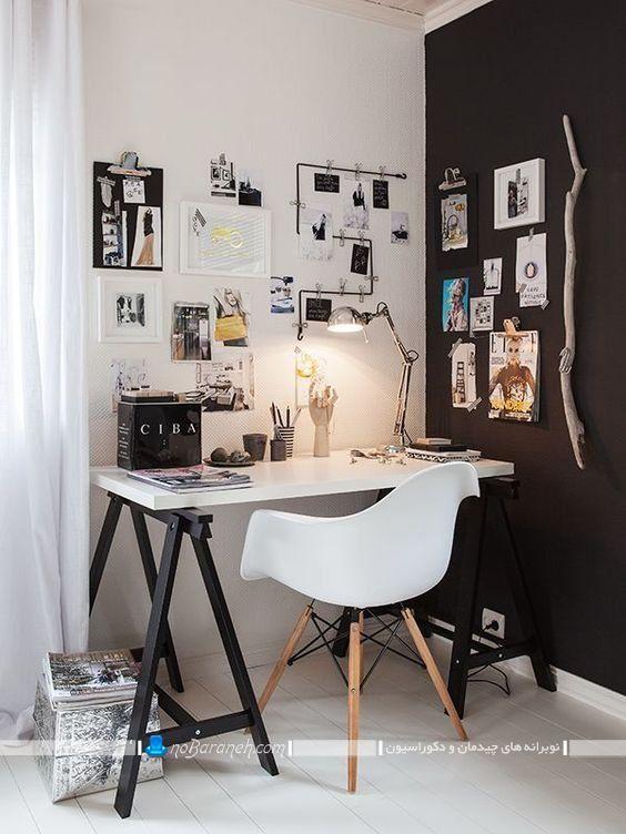 طراحی دکوراسیون فانتزی اتاق کار خانگی