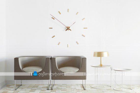 مدل ساعت دیواری شیک تزیینی با طراحی ساده مدرن بدون صفحه و شماره.