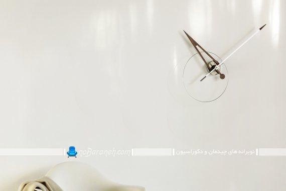 ساعت دیواری فانتزی و مدرن بدون صفحه مدل جدید شیک عقربه بزرگ.