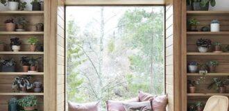 طراحی اتاق نشیمن در کنار پنجره خانه