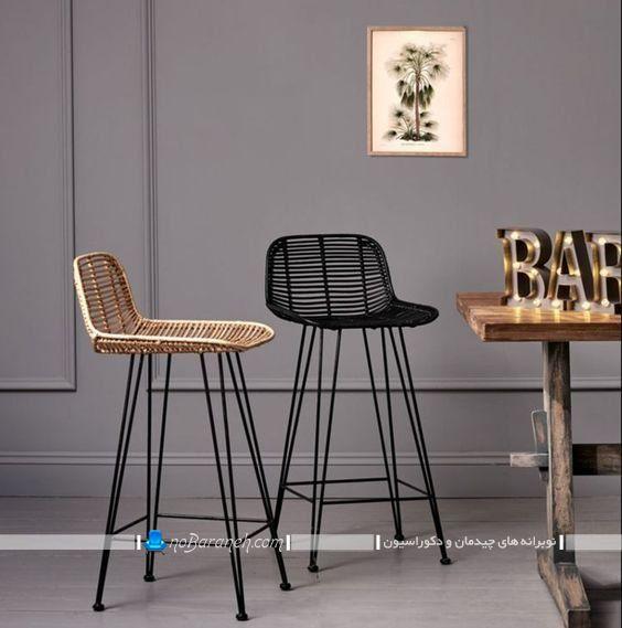 صندلی فانتزی پایه بلند شیک و ظریف و مدرن