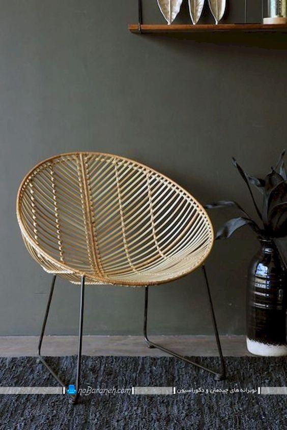 صندلی ظریف و فانتزی چوبی