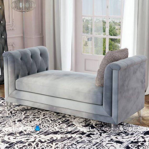 کاناپه دو طرفه بدون پشتی به سبک شزلون و لاوست