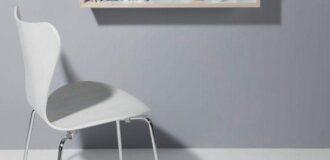 میز تحریر دیواری کمجا به شکل شلف و باکس