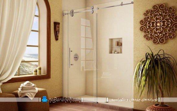 کابین دوش حمام دیوار شیشه ای