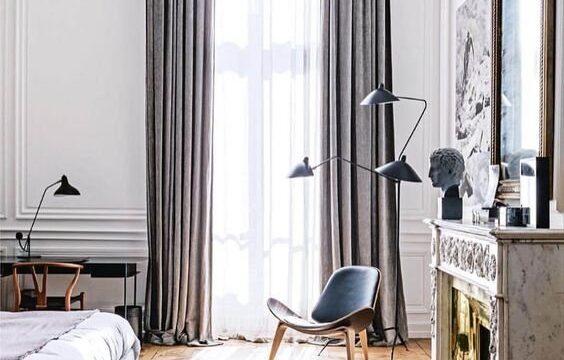 طراحی دکوراسیون اتاق خواب فرانسوی پاریسی