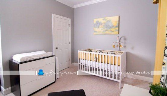 مدل جدید تخت کودک نوزاد ikea شیک مدرن با طرح ساده. چیدمان اتاق نوزاد شیک مدرن زیبا با هزینه کم ارزان قیمت
