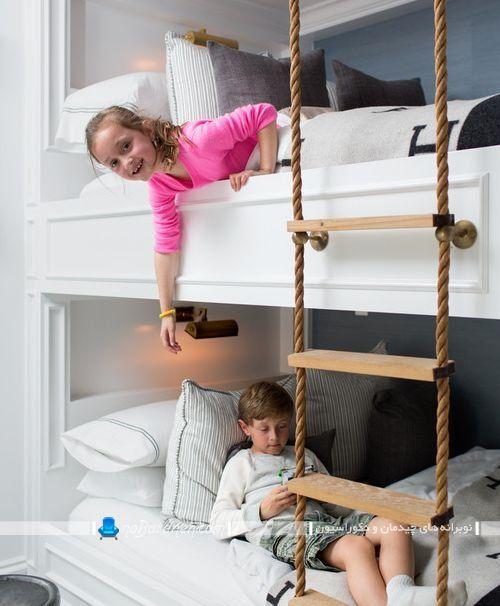 تخت بچه دو طبقه