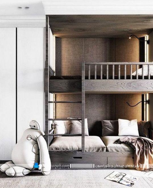 مدل جدید تخت دو طبقه کودک