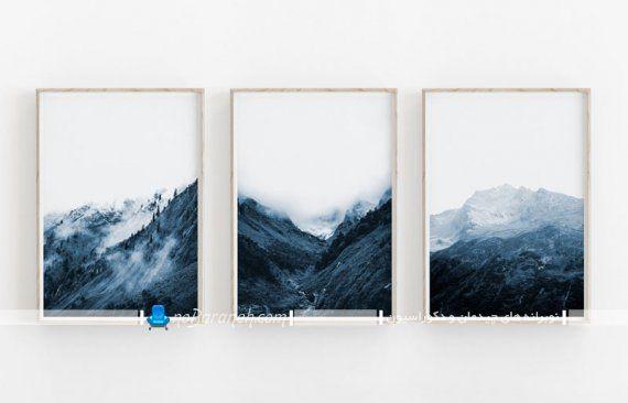 تزیین دیوار پذیرایی با تابلو سه تکه یا سه لت