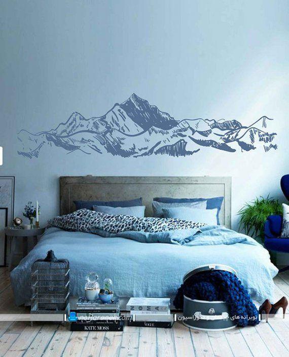 تزیین دیوار اتاق خواب با وسایل ساده