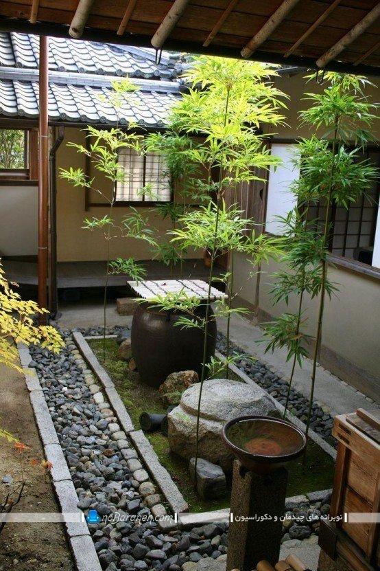 دکوراسیون پاسیو و حیاط خلوت در مدل های متنوع و زیبا ، عکس مدل باغچه و حوضچه های تزیینی برای دیزاین حیاط خلوت و پاسیو