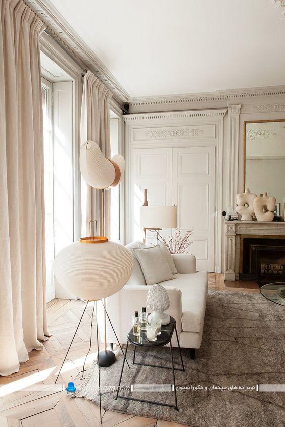 دکوراسیون و چیدمان پذیرایی فرانسوی و پاریسی شیک با دیزاین کلاسیک مجلل و گران قیمت ، تزیینات شیک و زیبا برای دکوراسیون اتاق پذیرایی کلاسیک مجلل با عکس.