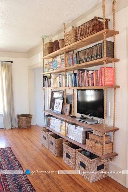 شلف دیواری تلویزیون ، مدل های جدید شلف های بزرگ با جای کتاب و تلویزیون