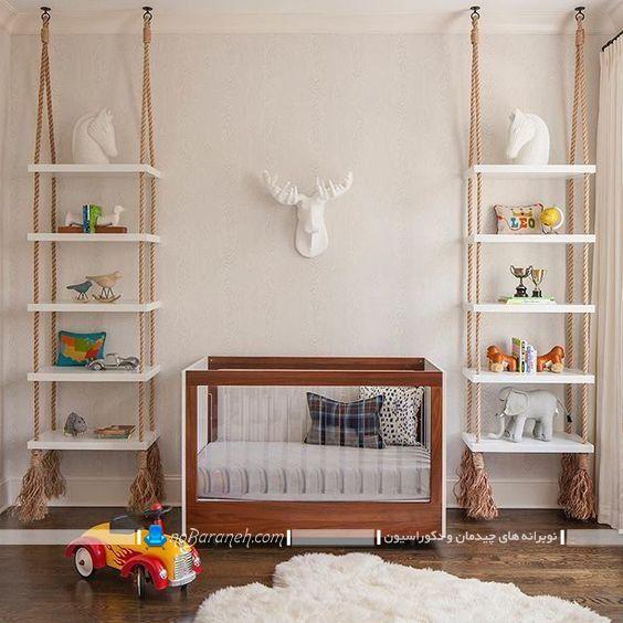 شلف و باکس دیواری اتاق کودک ، مدلهای جدید و فانتزی شلف تزیینی اتاق بچه