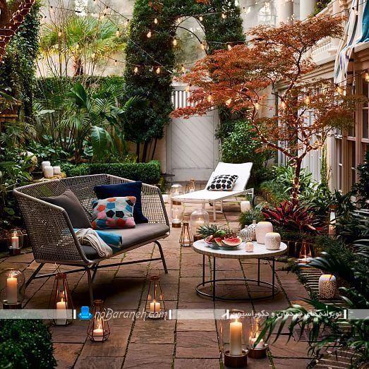 مبلمان فضای باز برای حیاط منزل