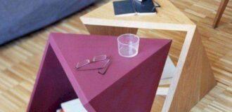 میز عسلی چوبی و فانتزی شیک