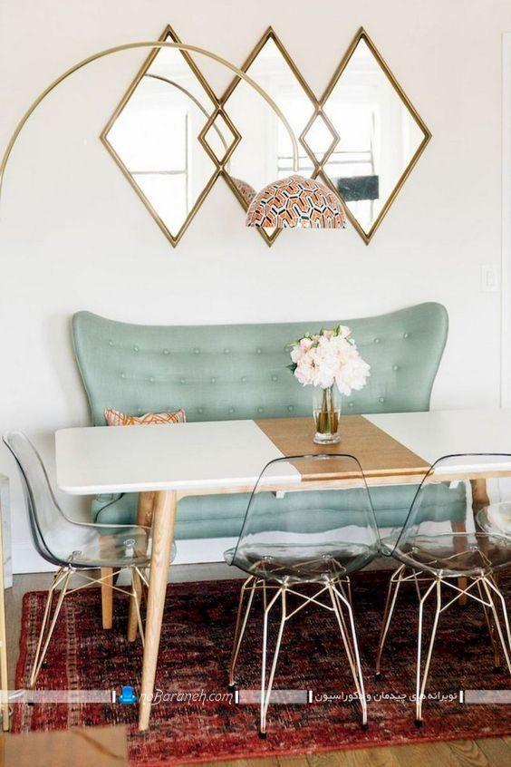 دکوراسیون اتاق غذاخوری 2016، اتاق ناهار خوری چوبی کوچک ، میز ناهار خوری کم جا