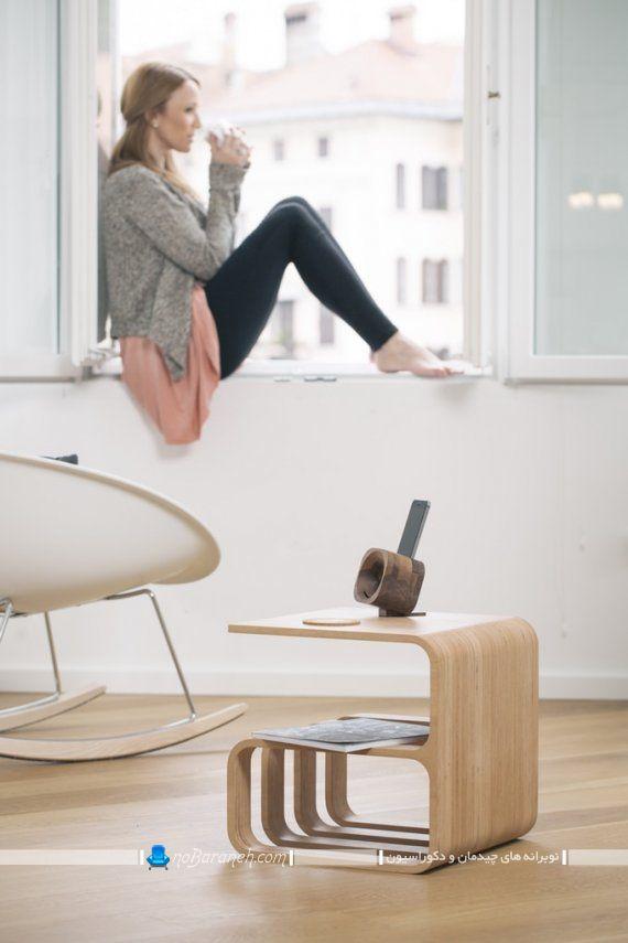 مبل چند منظوره با کاربرد میز و صندلی و کتابخانه