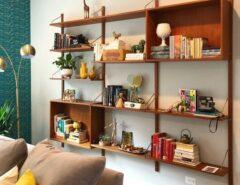 کتابخانه قفسه شیک کلاسیک