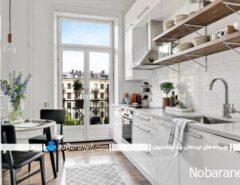 دکوراسیون دیزاین طراحی آشپزخانه با سفید
