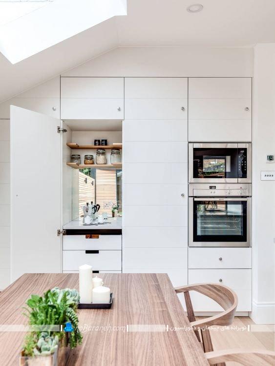 دکوراسیون سفید آشپزخانه به سبک اسکاندیناوی