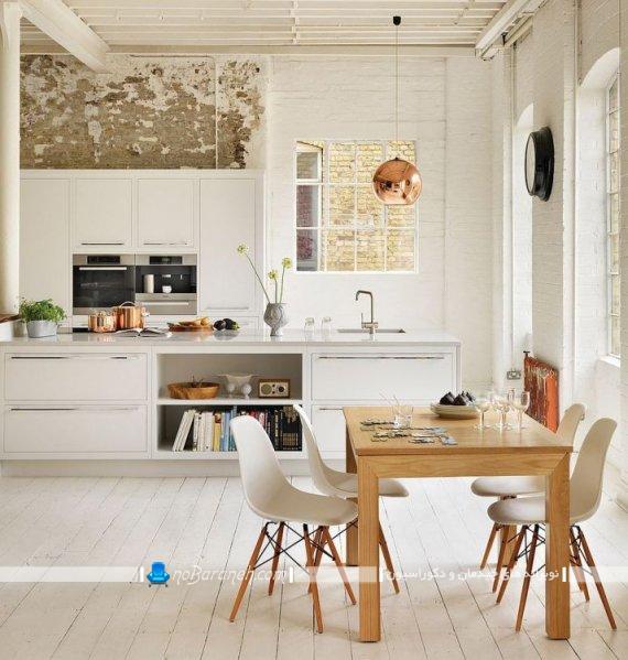 دیزاین شیک و مدرن آشپزخانه با سفید