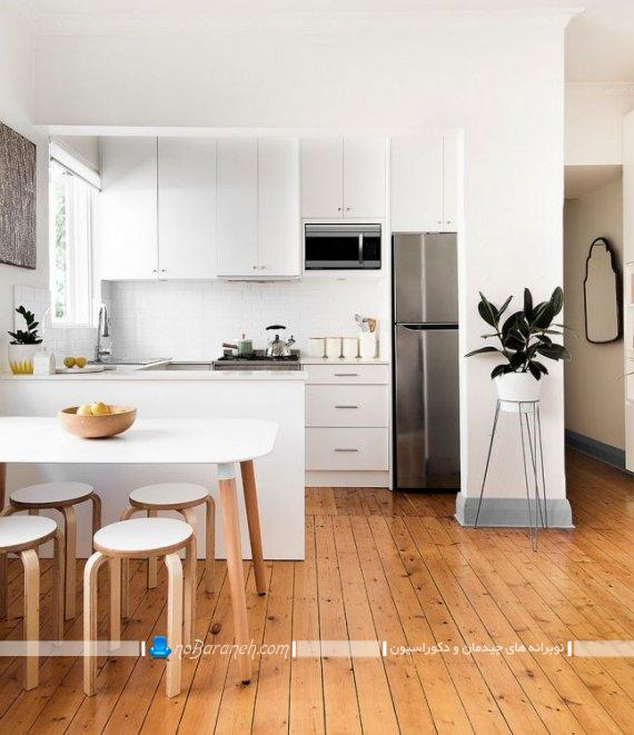 دکوراسیون آشپزخانه اپن به شکل مدرن