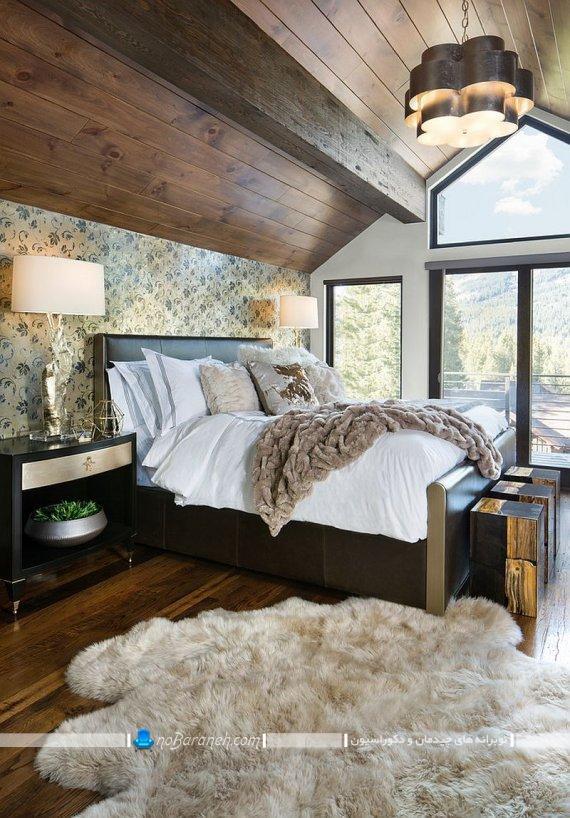 دیزاین اتاق خواب روستیک