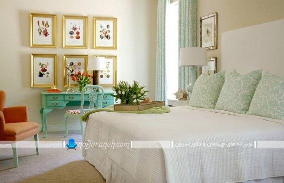 دکوراسیون اتاق خواب عروس ، تزیینات دیواری شیک و جذاب برای اتاق عروس به شکل تابلو دیواری
