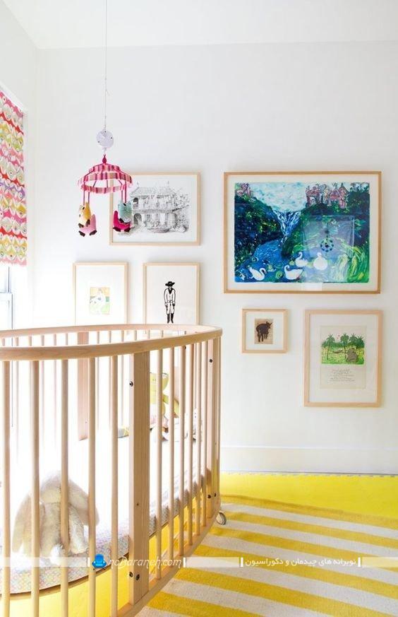 رنگهای شاد و زیبا برای اتاق نوزاد، تزیینات دیواری اتاق بچه ها ، عکس و مدل تابلوهای دیواری دکوراتیو برای تزیین اتاق نوزاد