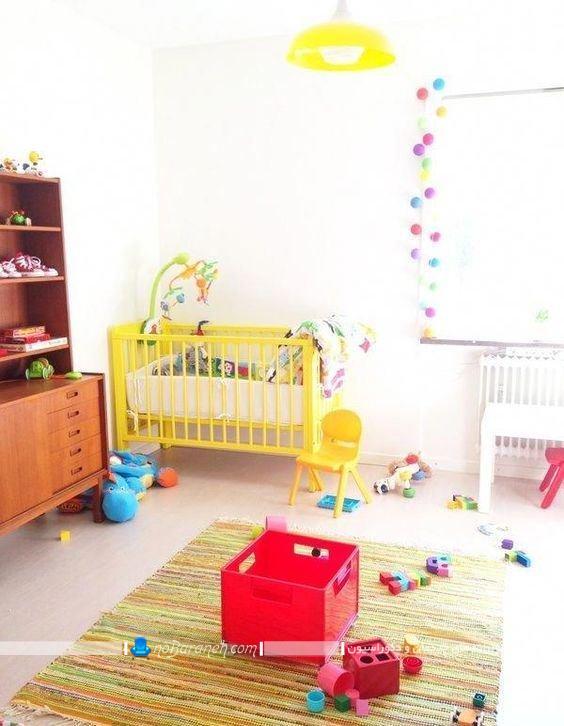 رنگ آمیزی شیک اتاق کودک نوزاد ، مبلمان و سرویس خواب ارزان قیمت اتاق نوزاد