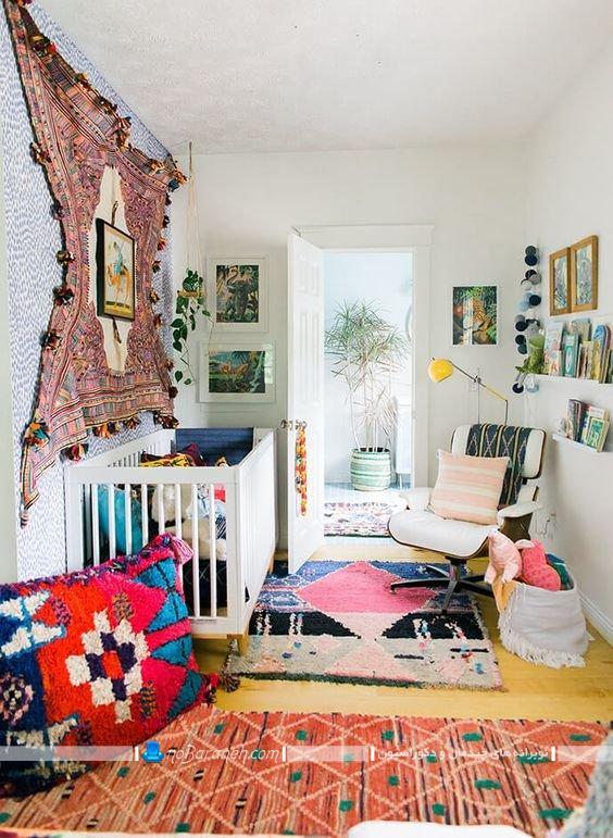 چیدمان اتاق نوزاد کوچک ، مدل سیسمونی ارزان قیمت نوزاد ، ایده های تزیینی برای دیوار اتاق خواب کودک ، دکوراسیون شیک و ساده اتاق بچه