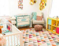 دکوراسیون شیک اتاق کودک رنگ آمیزی زیبا دیزاین اتاق کودک (4)