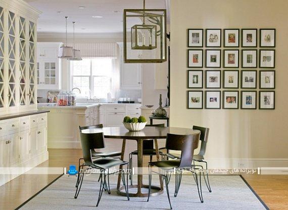 صندلی ناهار خوری کلاسیک ، صندلی تک نفره چوبی و فلزی برای میز ناهارخوری گرد